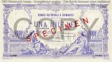 REPRODUCERE  bancnota specimen 1000 lei 1929