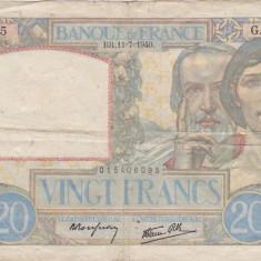 FRANTA 20 FRANCS FRANCI 1940 F