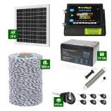 Pachet Gard electric 6,6j putere cu Panou Solar si 1000m de fir 120Kg