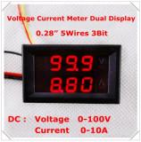 Voltmetru si Ampermetru digital 100 V 10 A rosu - rosu - shunt ( sunt ) inclus