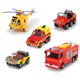 Cumpara ieftin Set Dickie Toys 4 masinute si un elicopter Fireman Sam