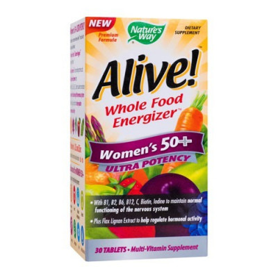 Alive! Women's 50+ Ultra, 30cps, Nature's Way foto