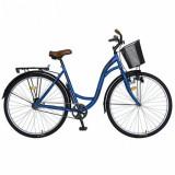 Bicicleta Oras Velors V2894F, Roti 28inch, Frane V-Brake, Far cu Dinam, Pompa (Albastru)