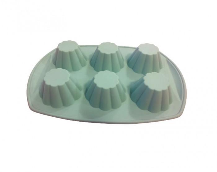 Forma din silicon pentru savarine, 6 cavitati, 77COF