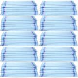 100 x Saci Rafie 55 x 100cm, Sac rezistent din rafie, Alb cu dungi albastre