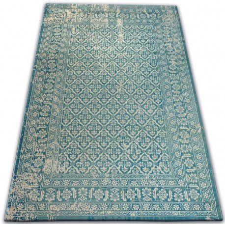 Covor Vintage 22209/644 turcoaz și cremă clasic, 120x170 cm
