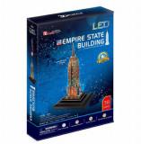 Cumpara ieftin Puzzle 3D Led - Empire State Building, 38 piese, CubicFun