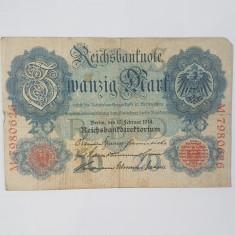 Bancnote Germania - 20 marci 1914
