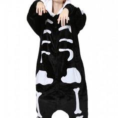 PJM9-1122 Pijama intreaga kigurumi, model anatomic schelet