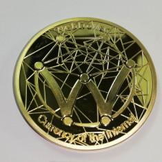 Moneda Suvenir WebDollar, diametru 40 mm, Aurie, 2018