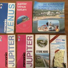 Ghiduri de calatorie turistice vechi harti Litoral Romania Marea Neagra jupiter