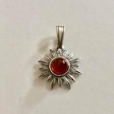 SOARE  CU CHIHLIMBAR - Medalion ARGINT