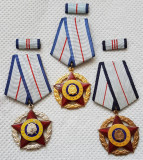 Meritul militar RSR - clasa a I - II - III a , decoratie per. comunista