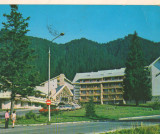 CPIB 16140 CARTE POSTALA - POIANA BRASOV, HOTEL TELEFERIC, Circulata, Fotografie