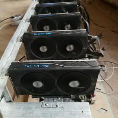 Mining rig 6xRX480 Sapphire 8Gb Nitro+ (memorii Samsung) - ETH 191.5MH/s