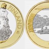 Finlanda moneda bimetal 5 euro 2018 UNC in capsula - Regiunea Oavinlinna, Europa
