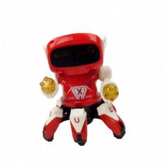 Robo spider dansator muzica luminite 17 cm rosu alb