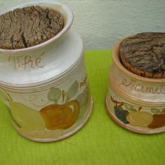 Ceramica frantuzeasca Provence, recipient ceai si recipient dulceata