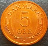 Moneda 5 ORE - DANEMARCA, anul 1964   *cod 3787 - UNC