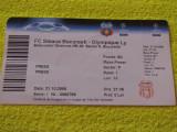 Bilet meci-presa STEAUA Bucuresti - OLYMPIQUE Lyon (21.10.2008)