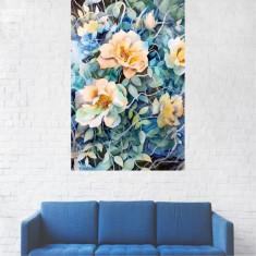 Tablou Canvas, Pictura Flori Galbene in Gradina - 20 x 30 cm