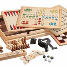 Set cele mai cunoscute 10 jocuri de societate in cutie din lemn de pin