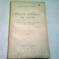 TRAITE GENERAL DE L'ETAT - MARCEL DE LA BIGNE DE VILLENEUVE VOL.II