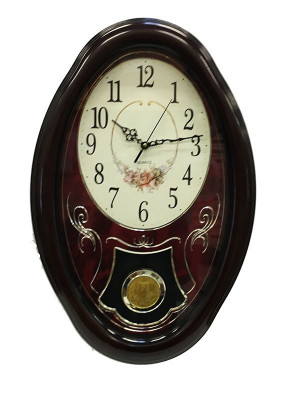 Ceas de Perete cu Pendula WallClock Rose TLD-8392 foto