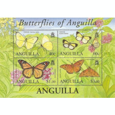 Anguilla 2006 - Fluturi, bloc neuzat