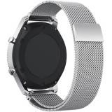 Cumpara ieftin Curea ceas Smartwatch Samsung Gear S3 Silver Milanese Loop, iUni 22 mm Otel Inoxidabil