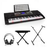 SCHUBERT Etude 450, set de pian electronic de formare, căști de studio, suport pentru pian, scaun