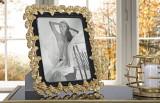 Rama foto decorativa din rasina Gink Glam Negru / Auriu, 29,5 x 34,5 cm