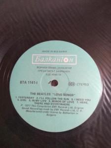 VINIL THE BEATLES LOVE SONGS