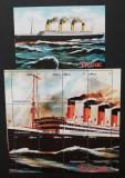 Turkmenistan- Dezastrul Titanic,1 M/Sh.+1 S/Sh.Neobliterat--T 33A