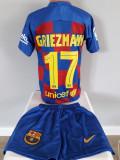 Echipament fotbal pt copii F.C.Barcelona Griezmann tricou si sort