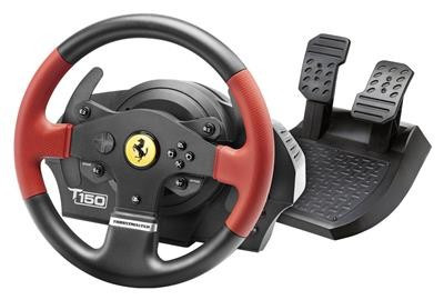 Volan Gaming Thrustmaster T150 Force Feedback Rosu Pc Ps3 Si Ps4 foto