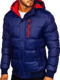 Cumpara ieftin Geaca de iarna matlasata bleumarin Bolf 5839