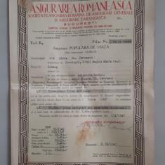 Polita de asigurare 1947 - Asigurarea Romaneasca