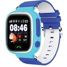 Ceas pentru copii cu GPS Tracker , culoare albastru , cu locas SIM Kft Auto
