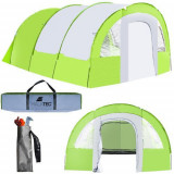 Cort camping 6-8 persoane, Textil, 460 x 330 x 195