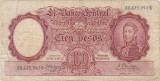 ARGENTINA 100 PESOS ND(1957) F