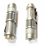 Lanterna LED 3W Zoom cu Acumulator 14500 220V Power Style MX555