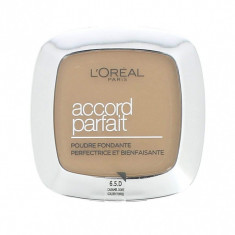Pudra compacta Loreal Accord Parfait 6.5D/6.5W Golden Toffee/Caramel Dore