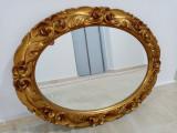 Eleganta oglinda în stil francez ovala, rama structura din lemn | arhiva Okazii.ro