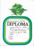 Diploma sportiva elev 1972 Targu Mures perioada comunista