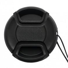 Capac frontal obiectiv 58mm cu snur Nikon, Canon, Sony, Olympus Panasonic etc