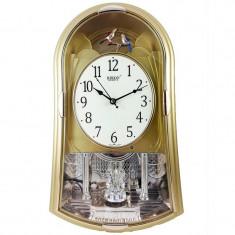 Ceas de perete Rikon Quartz Rotativ Cu Pendul Muzical 14751SST