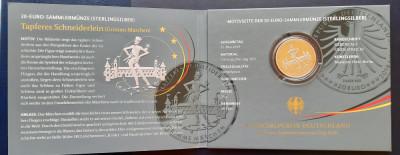 """Moneda comemorativa de argint - 20 Euro """"Tapferes Schneiderlein"""" 2019 - Proof foto"""