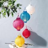 Lampioane cu LED, diferite culori, 20 cm, 1 buc., 11399