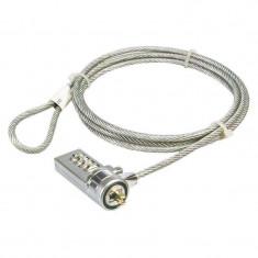Cablu anti-furt cu cifru pentru laptop Logilink NBS002